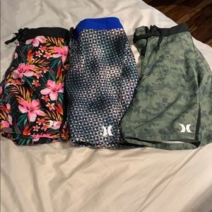 3 FOR THE PRICE OF 1 Hurley Kids Swim SIZE 10